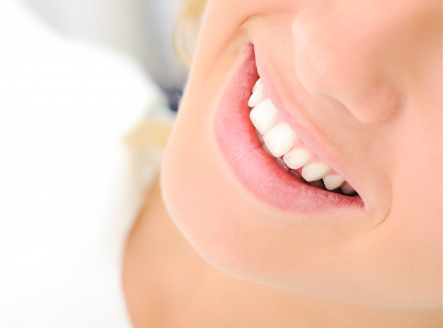 healthy teeth beautiful smile young woman