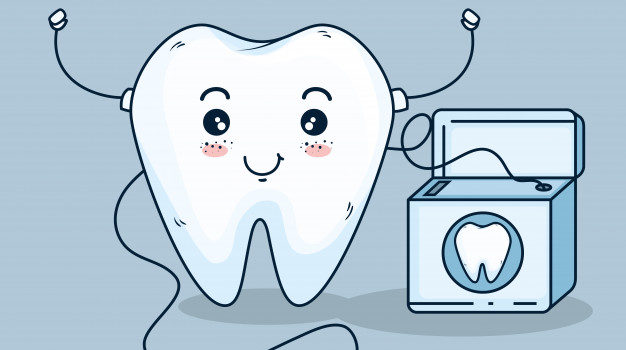 tooth-care-treatment-with-dental-floss